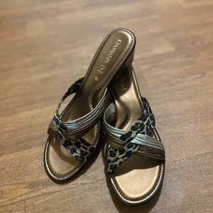 Damiani's Made in Italy Brown Animal Print Sandals